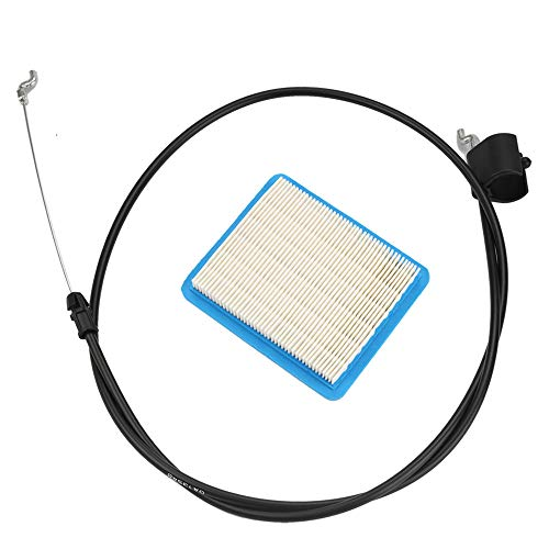 - Buckbock 158152 Lawn Mower Throttle Cable with 491588 Air Filter for Husqvarna Craftsman 582991501 Zone Control Cable Replaces AYP Weed Eater Poulan Murray Sears Pushmower Rotary Lawn Mower
