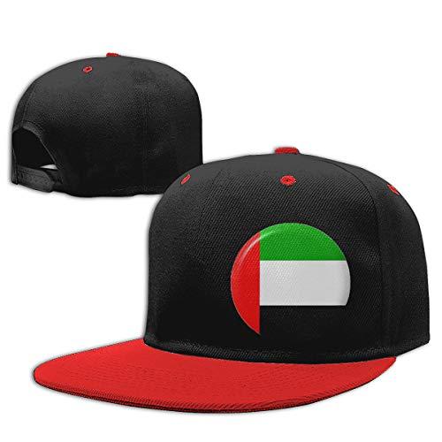 Childaren Flag of United Arab Emirates Outdoor Hip Hop Travelling Cotton Caps Adjustable Red