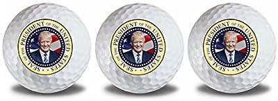 Donald Trump 2017 Presidential Seal Golf Balls 3 Pack