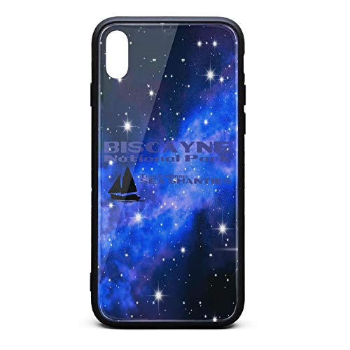 Custom Phone Case for iPhone X Biscayne National Park Rubber Frame Tempered Glass Covers Pretty Scratch-Resistant Skid-Proof Never Fade Cell Cases Hard