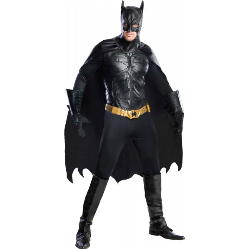 Rubie's Men's The Dark Knight Rises Deluxe Batman Costume Black Deal (Large Image)