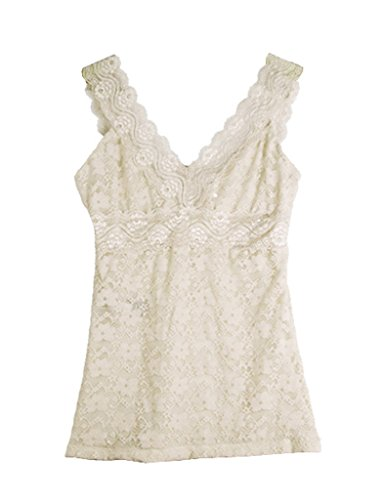 Legou Women's V Vest Lace Tank Tops M Creamy White for sale  Delivered anywhere in Canada
