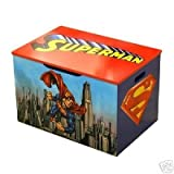 DC Heroes Superman Wooden Toy Box with Handle