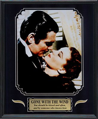 Gone with the Wind. Clark Gable and Vivien Leigh. Framed Movie Photo in the Black Modern Real Wood Frame (12 x - Gable Poster Movie