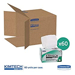 Kimwipes Delicate Task Kimtech Science Wipers (34155), White, 1-PLY, 60 Pop-Up Boxes/Case, 280 Sheets/Box, 16,800 Sheets/Case