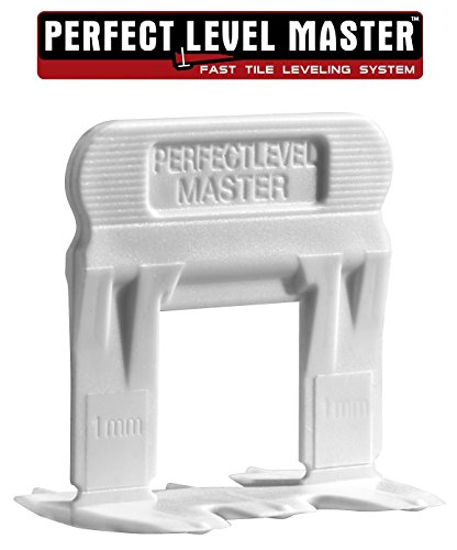 T-Lock ™ 1/32'' (1mm) 1500 Clips '' PERFECT LEVEL MASTER ™ Professional '' Anti lippage '' Tile leveling system - (spacers only), Red wedges not included and sold separately! by Perfect Level Master ™