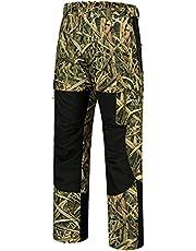BASSDASH Splice Men's Waterproof Breathable Hunting Pants Ripstop Camo Fishing Rain Pant