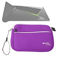 DURAGADGET Purple Water Resistant Neoprene Travel Case with Front Zip Compartment For The New Nvidia Shield Android TV