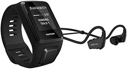 TomTom SPARK 3 Cardio + Music + Casque BT Montre GPS Multisports Bracelet Fin Noir