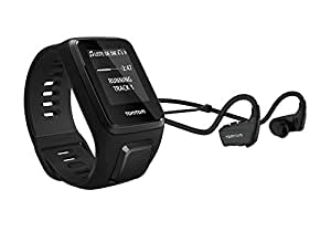 TOCG9 1RKM.002.11 TomTom Spark 3 Cardio + Music, GPS Fitness Watch + Heart Rate Monitor + 3GB Music + Bluetooth Headphones (Black, Small)