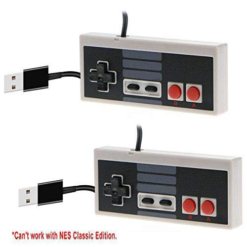 CC&SS 2 Packs USB Controller for Classic NES, USB Famicom Game Gaming Controller Joypad Gamepad for Laptop Computer Windows PC/MAC/Raspberry - Command Pro Pad Gamer
