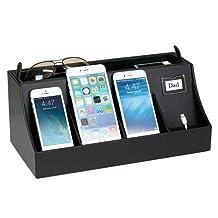 Great Useful Stuff Desktop Smartphone Charging Station and Valet