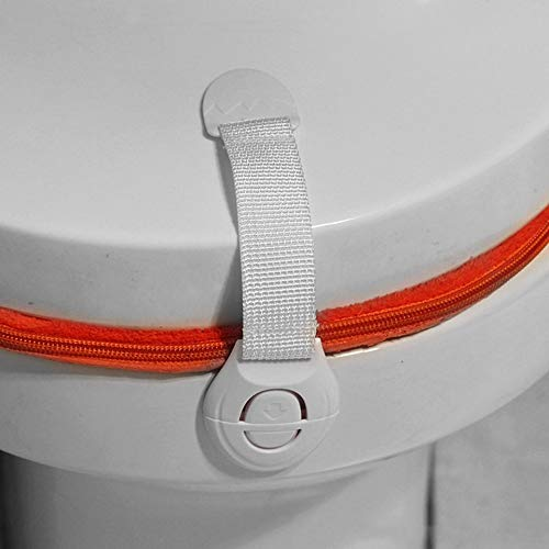Durable Caj/ón Puerta Gabinete Armario Seguridad Inodoros Cerraduras de pl/ástico para beb/és y ni/ños Cuidado de la seguridad para el tama/ño Baby-White-1