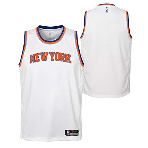 - Outerstuff New York Knicks Youth Swingman Blank 'Association' Jersey - White (Youth Medium (10/12))