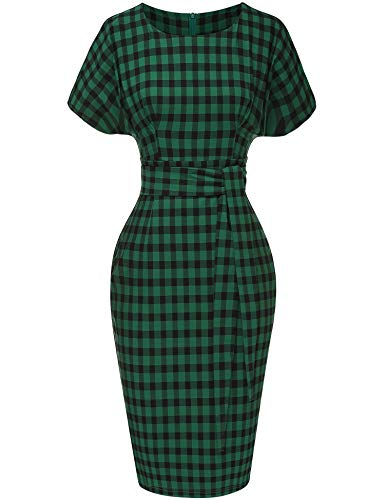 GownTown Women's 50s 60s Vintage Sexy Fitted Office Pencil Dress]()