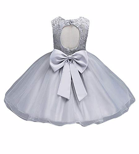 21KIDS Baby Girls Tulle Lace Flower Bridesmaid Gown