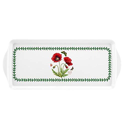 Botanic Garden Melamine Sandwich Tray - Poppy Motif