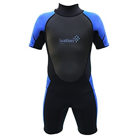 Ivation 3mm Short Wetsuit for Kids – Crafted of Premium Neoprene & Features High- Quality Zipper & Full UV Protection