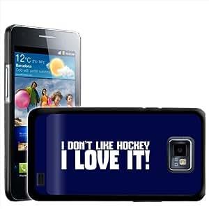 Fancy A Snuggle I Don 't Like Hockey I Love It diseño de para Samsung Galaxy S2 i9100