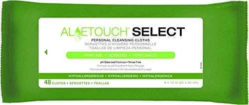 8'' aloe touch Scented Wipe Quantity: Case of 12 packs