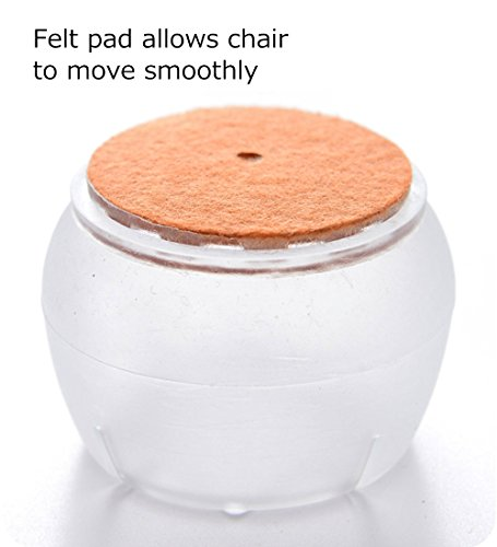 MelonBoat Chair Leg Feet Wood Floor Protectors Set Furniture Felt Pads Roun
