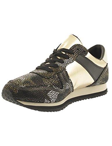 Hilfiger Denim Sneaker Laguna Allover Stampa Nero / Oro / Bianco Nero