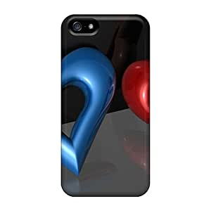 New Arrival Premium 5/5s Case Cover For Iphone (loved Hearts)