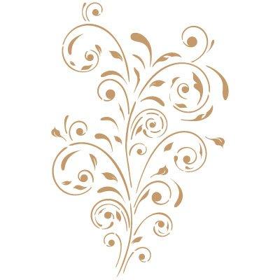 Misure Stencil Deco Damasco 040 20 x 30 cm Misure Design Dimensioni Esterne dello Stencil 17,7 x 25,6 cm
