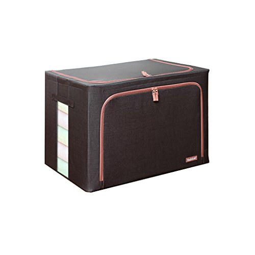 LXY Hemp Oxford Cloth Square Towel 4.5mm Steel Frame Waterproof Two-way Zipper Storage Box Extra Large 100 Liter Steel Frame Storage Box 60 42 40cm Storage Box