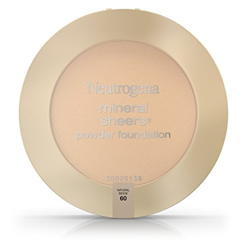 Neutrogena Mineral Sheers Compact Powder Foundation Spf 20, Natural Beige 60, .34 Oz. (Pack of 2)