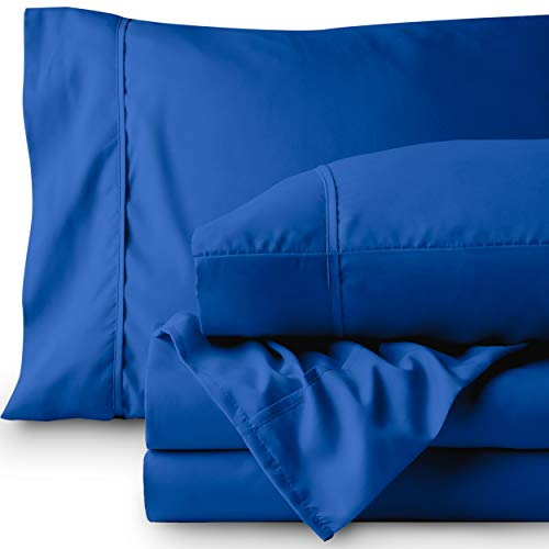 Bare Home Premium 1800 Ultra-Soft Microfiber Collection Sheet Set - Double Brushed - Hypoallergenic - Wrinkle Resistant - Deep Pocket (Twin, Medium ()