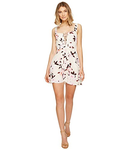 Flynn Skye Women's Leila Lace-Up Mini Dress Scattered Roses Dress