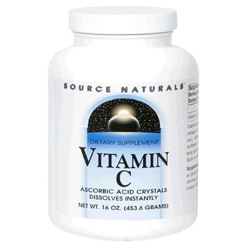 Source Naturals vitamine C Cristaux d'acide ascorbique, 16 Ounce