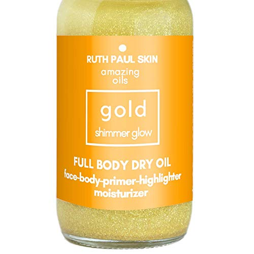 Glowing Body Oil For Women - Moisturizing Shimmer Body Oil & Face Oil - Eco Glitter In Natural Oils Blend Of Coconut, Jojoba, Argan, Sweet Almond & Essential Oils High - Body Shimmer