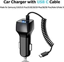 Fast USB Type C Car Charger,Compatible for Google Pixel 3 XL//3//2//2 XL//XL//C,Samsung Galaxy S10//S9//S8,USB C PD Car Charger with Quick Charge 3.0 Fast Charging,3.3ft USB-C to C Cable Included
