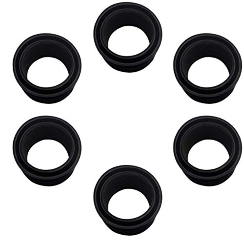 (Super SW 6 Pieces Black Rubber Fishing Rod Holder Insert Rod with Cap Protectors Kit Fit for Rod and Reel Protectors)