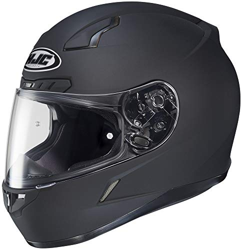 HJC Solid Mens CL-17 Full Face Motorcycle Helmet - Matte Black/Large