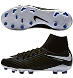 Nike Youth Hypervenom Phelon III Dynamic Fit FG Cleats [Black] (4.5Y)