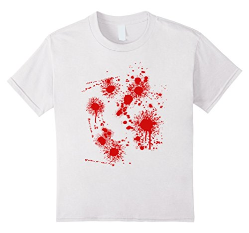 Kids BLOODY HALLOWEEN T-SHIRT COSTUME SCARY BLOODY SHIRT 12 White