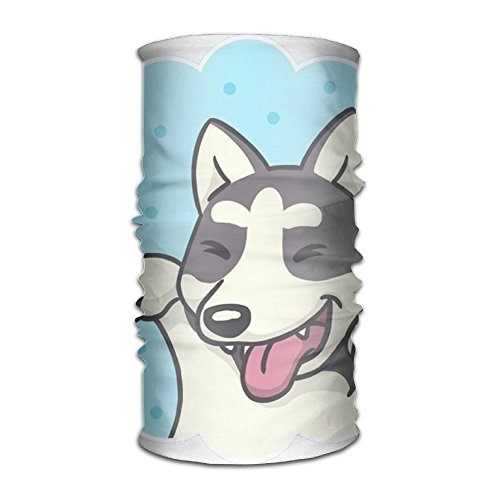 Owen Pullman Multifunctional Headwear Happy Dog Wave Head Wrap Elastic Turban Sport Headband Outdoor Sweatband -