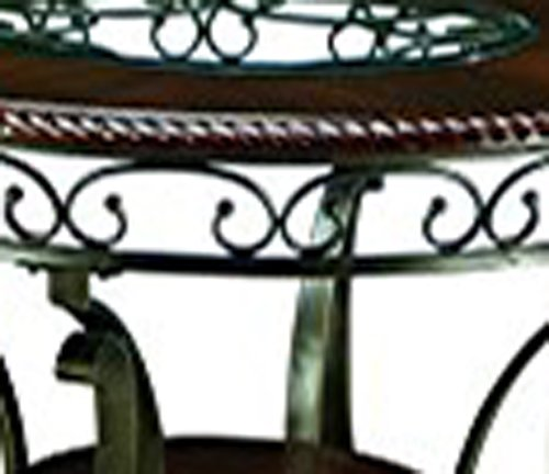 Ashley Furniture Signature Design - Glambrey Dining Room Table - Round - Brown by Signature Design by Ashley (Image #8)