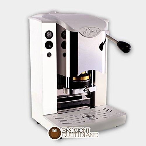 MACCHINA CAFFE A CIALDE IN CARTA ESE 44MM FABER SLOT INOX COLORE BIANCA faber italia