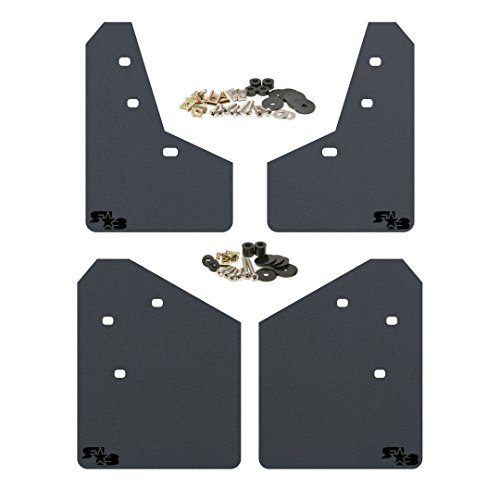 2013-2017 Subaru XV Crosstrek Mud Flaps by RokBlokz - Multiple Colors Available - Mud Guards are Custom Cut and Fit - Includes All Mounting Hardware (Black with Black Logo)