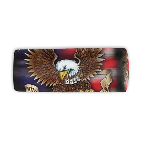Makeup Brush Cylinder Cosmetic Case U.S. Navy American Soldier Travel Organizer Pencil Case