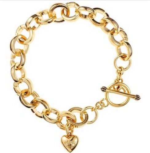 Juicy Couture Open Link Couture Starter Bracelet Gold