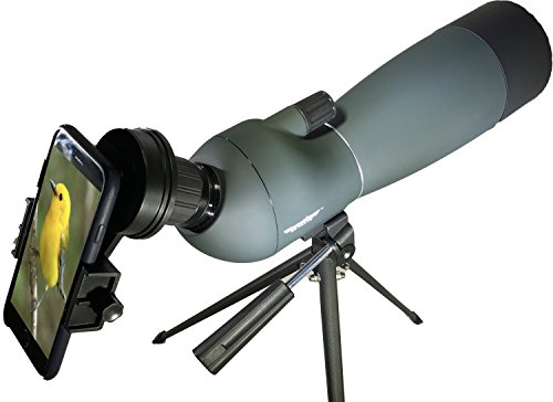(RangeHAWK Target Shooting Spotting Scope (25-75x70), Clear Optics Best for Shooting Range, Hunting, Bird Watching & More. Includes Free Phone Adapter to take Pictures Through The Scope. )