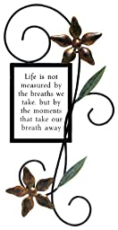 Fetco Home Décor Halle Wall Art, Life Is Not Measured