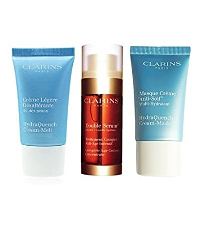 CLARINS DOUBLE SERUM 30 ML + HYDRAQUENCH 2 X15 ML SET REGALO ...