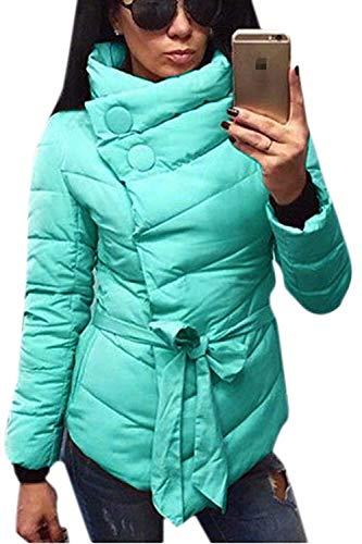 Chemine Stepp Femme Manches Longues Slim Fit Chaud paissir Hiver Branch Quilting Blouson Elgante Loisir Outdoor breal Outerwear Hiver Manteau Uni Manche Vert