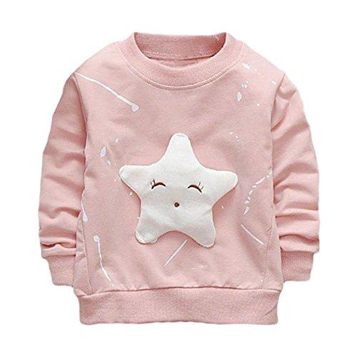 MIOIM Fashion Sweet Toddler Girls Cartoon Cute Star Long Sleeves T-Shirt Sweatshirt Tops Blouse ()
